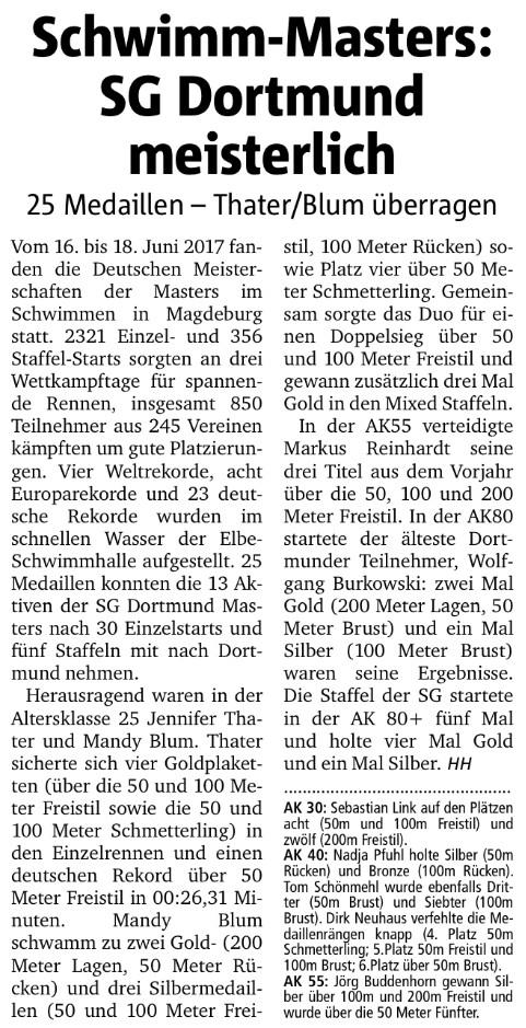 RN, Schwimm-Masters: SG Dortmund meisterlich